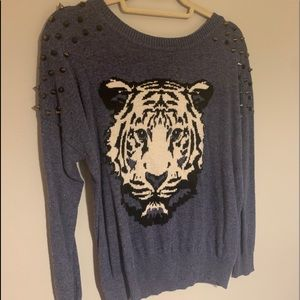 Studded tiger sweater